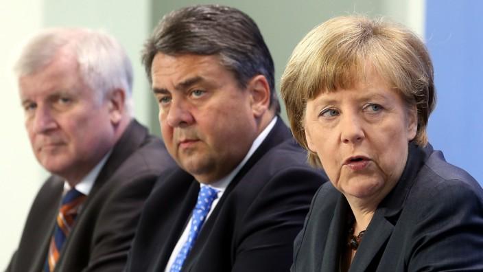 Merkel, Gabriel und Seehofer