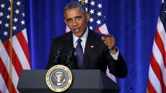 U.S. President Barack Obama speaks at the House Democratic Issues Conference in Baltimore, Maryland