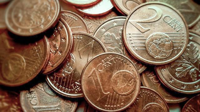 Cent-Münzen Kupfergeld