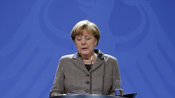 German Chancellor Merkel makes statement on Istanbul attack at Chancellery in Berlin, file