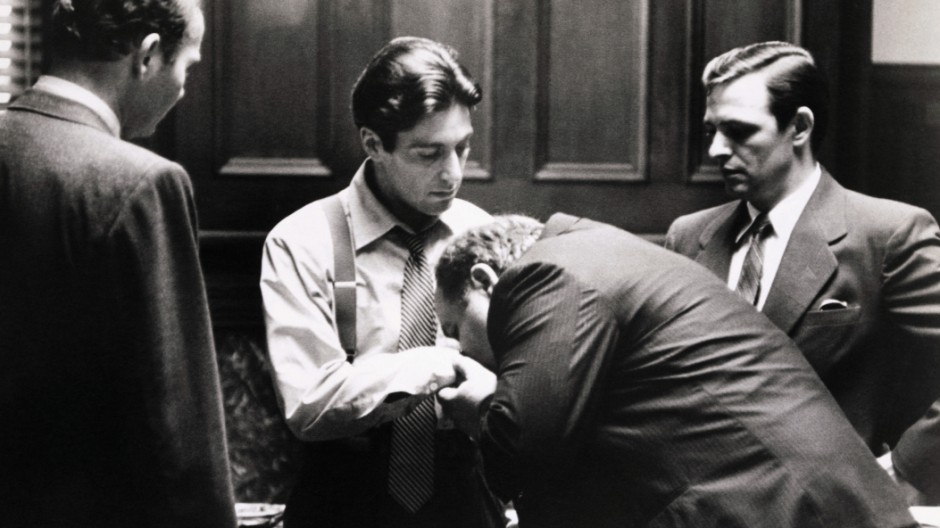 Man Kissing Al Pacino's Hand