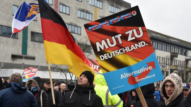 AfD Demonstration in Neubrandenburg
