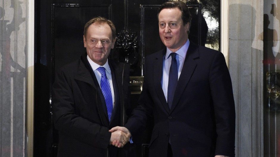Cameron meets Tusk