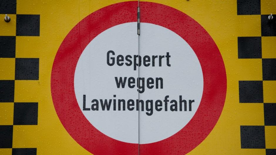 Hohe Lawinengefahr in Bayern