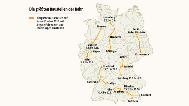 Deutsche Bahn: Hier gibt es Verspätungen & Baustellen - Wirtschaft on