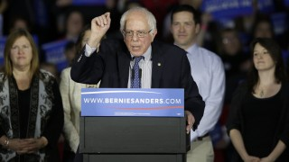 Democratic Presidential Candidate Bernie Sanders Holds Iowa Caucus Night Gathering