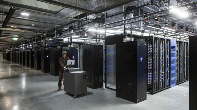 Inside Facebook's green Lulea Data Centre in Sweden, the only one outside the USA.