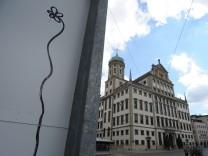 Graffiti-Blume Augsburg