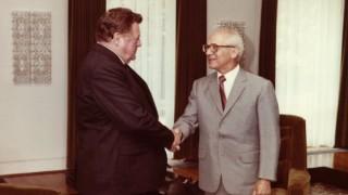 Franz Josef Strauß und Erich Honecker