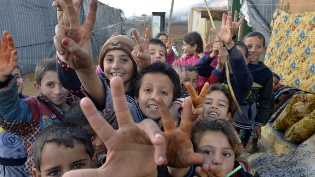 Qab Elias Syrian refugee camp in Lebanon