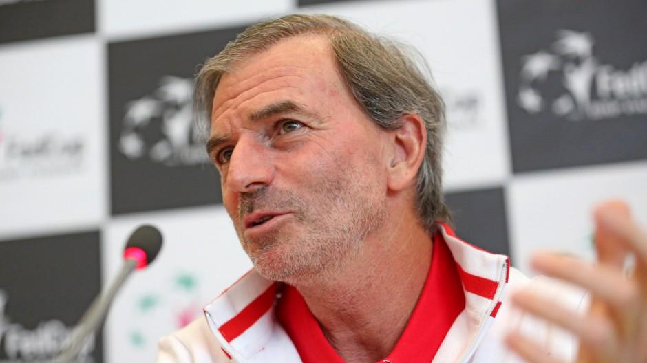 Pressekonferenz vor Tennis Fed-Cup-Viertelfinale