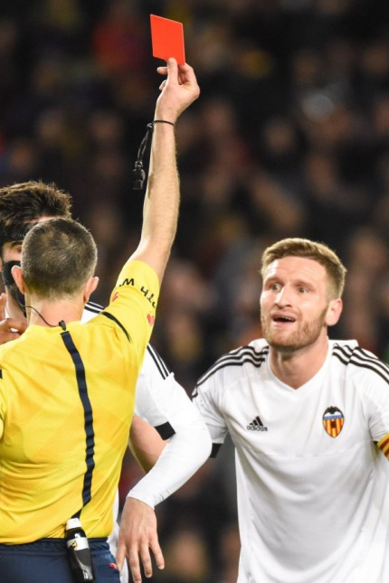 Valencia s Shkodran Mustafi during Spanish King Cup match February 3 2016 PUBLICATIONxINxGERxSUIx