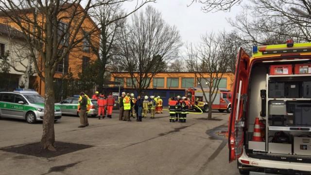 Brand in der Ährenfeldschule Gröbenzell