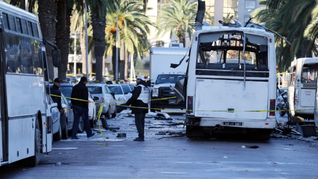 scene of bus bombing