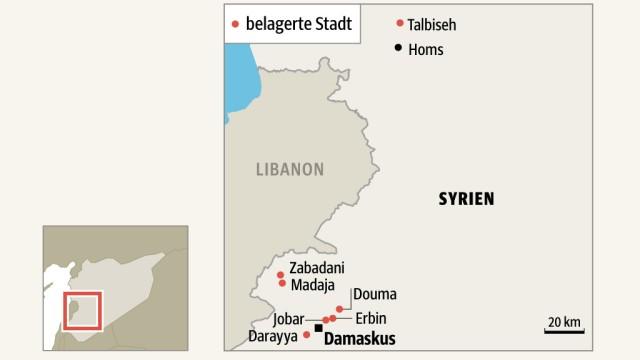 Krieg in Syrien Talbiseh