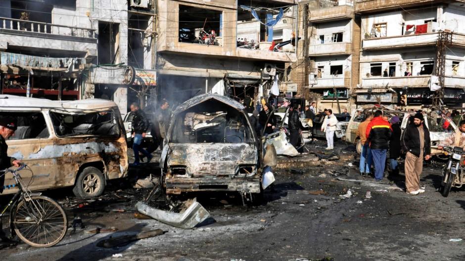 Suicide bomb attack in Homs, Syria