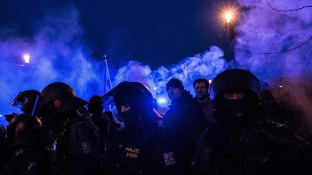 Anti-Islam rally in Prague