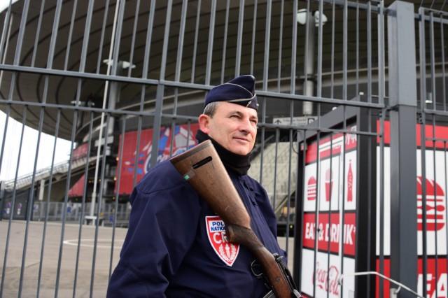 Rugby Sicherheitsvorkehrungen am Stade de France vor dem Spiel gegen Italien RUGBY 6 Nations