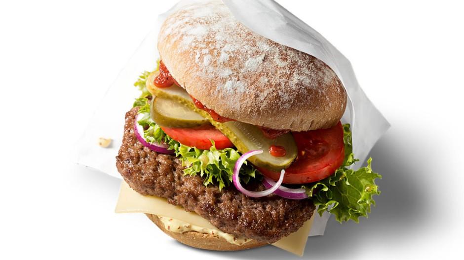 Der erste McDonald's Burger mit 100 % Bio-Rindfleisch