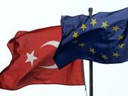 Flaggen: Türkei, EU