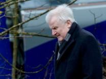 Bavarian State Premier Seehofer visits the site of the crash of two trains near Bad Aibling