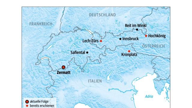 Süddeutsche Zeitung Reise Skigebiete in den Alpen
