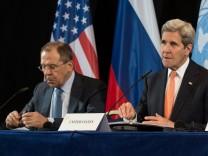 Syrien-Konferenz in München Kerry Lawrow Einigung