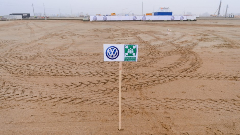Volkswagen car factory construction site