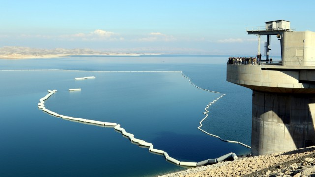 A view a section of the Mosul Dam in northern Iraq