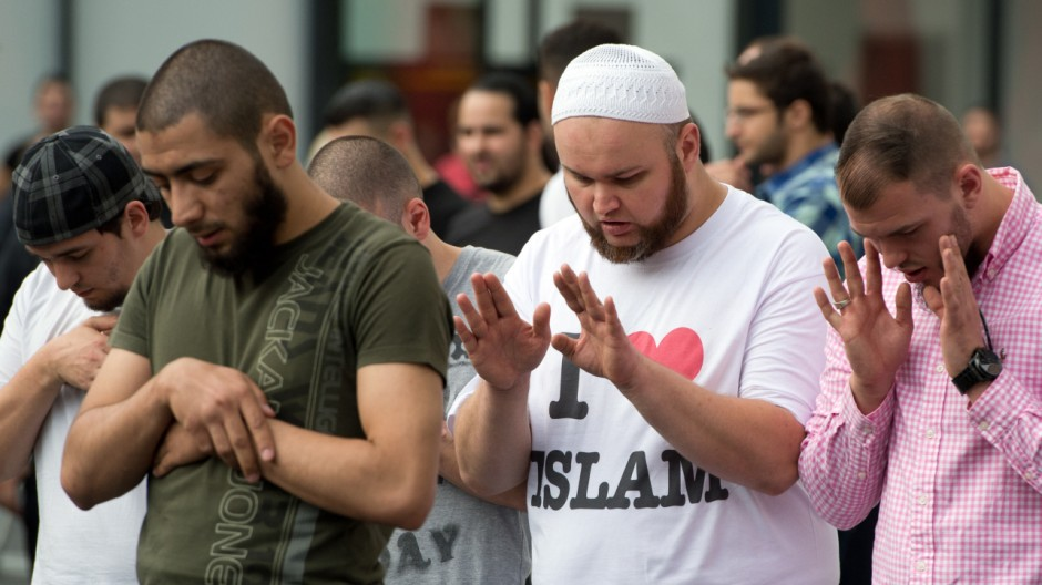Salafisten demonstrieren in Frankfurt