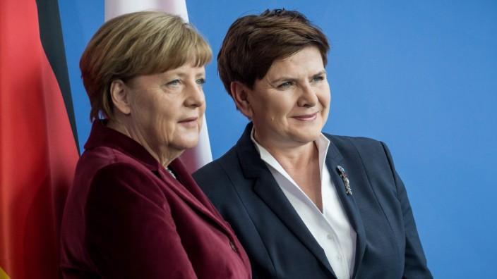 Polens Ministerpräsidentin Szydlo bei Kanzlerin Merkel