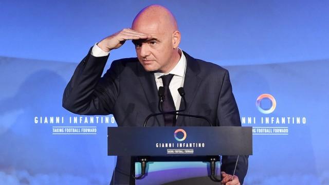 UEFA general secretary Gianni Infantino Gianni Infantino unveils