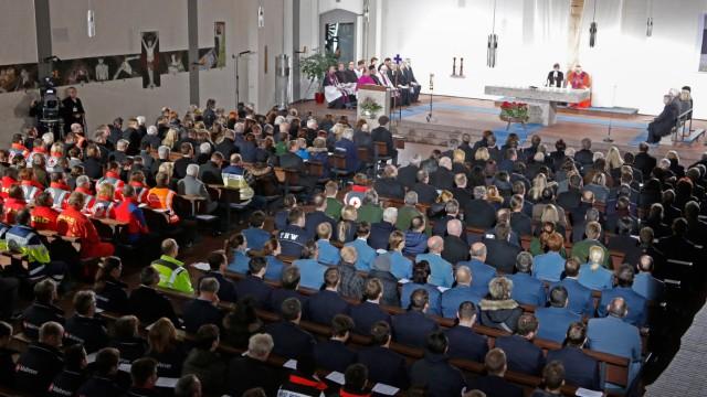 Ökumenischer Gedenkgottesdienst nach Zugunglück in Bad Aibling