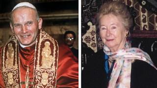 Papst Johannes Paul II. und Anna-Teresa Tymieniecka