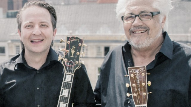 Jazzmusiker Paulo Morello und Larry Coryell