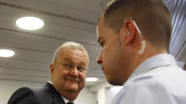 Porsche SE's former CEO Wiedeking arrives for trial at court in Stuttgart