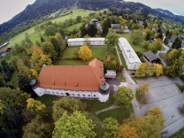Luftbild Kaserne Lenggries Offiziersheim