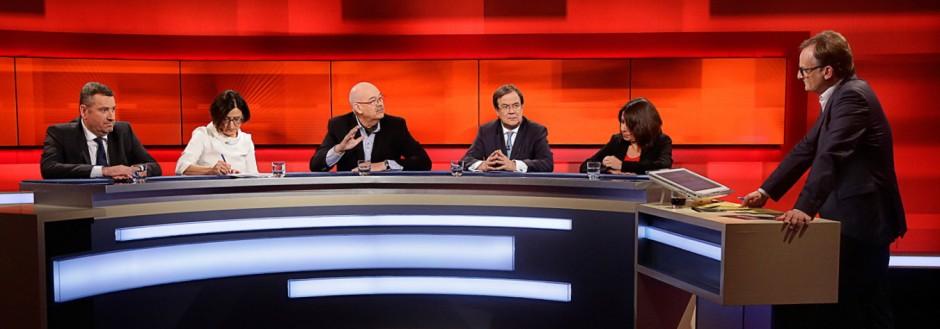 âÄžhart aber fair' Sendung am 15.02.2016