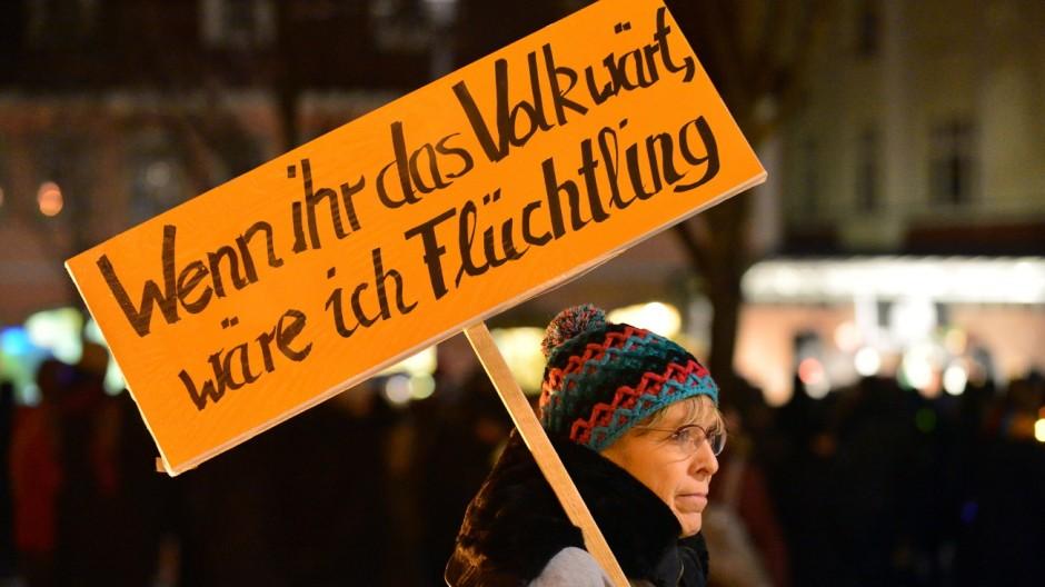 Protest gegen Anti-Islam-Bewegung Sügida in Suhl