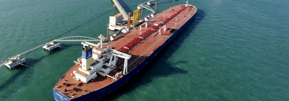 File photo of a general view of a crude oil importing port in Qingdao