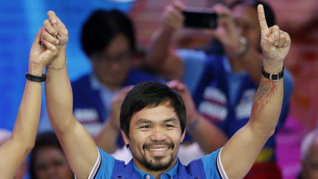 Filipino boxing champion Emmanuel Manny 'Pacman' Pacquiao, aspiri
