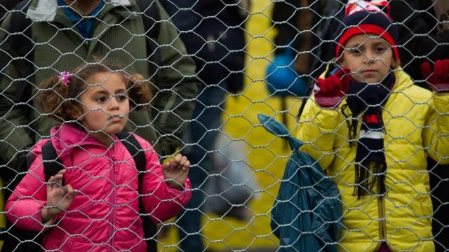 Migrants at Austrian-Slovenian border