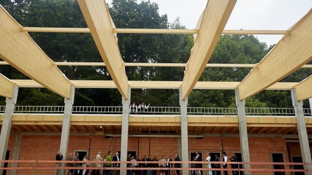 Richtfest Hebauf Turnhalle Südschule