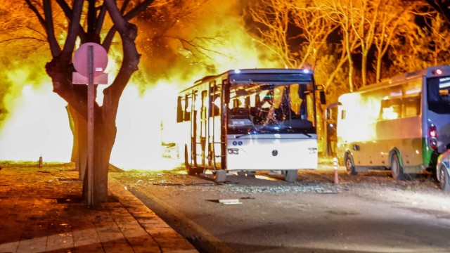 *** BESTPIX *** Injuries And Deaths Reported After Bomb Blast In Turkish Capital