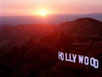 Hollywood sign overlooks Los Angeles.