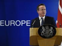 David Cameron spricht nach der Einigung auf dem EU-Gipfel