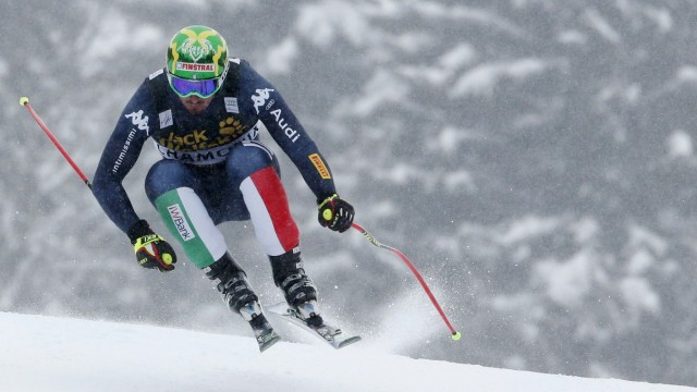 Dominik Paris of Italy skis to win the men's downhill race in Les Houches