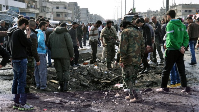 Homs Bombenanschlag in Syrien