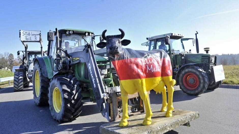 Starnberg, Protest der Milchbauer