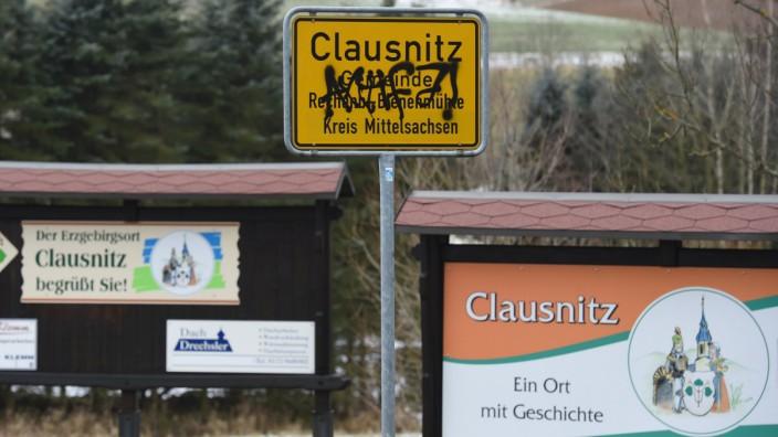 Ortsschild von Clausnitz